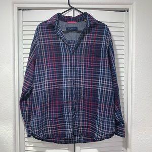 Tommy Bahama men's button down plaid shirt